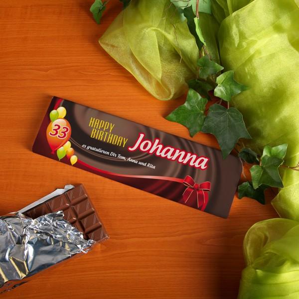 Schokolade mit Personalisierung