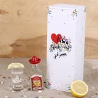 Sierra Tequila Mini Flasche mit graviertem Schnapsglas im Inlay mit bedruckter Pappbox