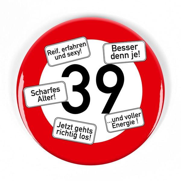 Verkehrszeichen-Button 39