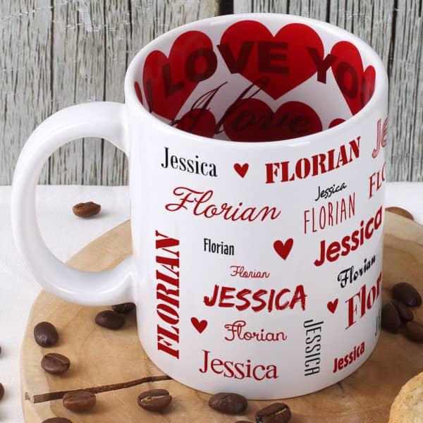 - Namenstasse zum Valentinstag innen und außen bedruckt - Onlineshop Geschenke online.de