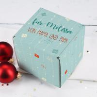 Persönliche Geschenkverpackung mit 3 Wunschtexten zu Weihnachten
