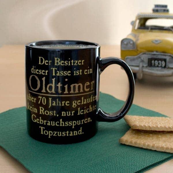 Oldtimer Tasse zum 70.