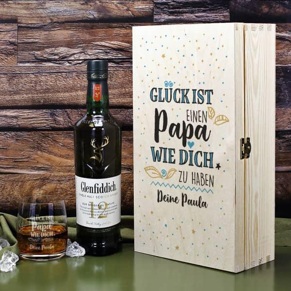 Glück ist, einen Papa wie dich zu haben - Glenfiddich Whisky Geschenkset