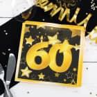 Servietten Star zum 60. Geburtstag