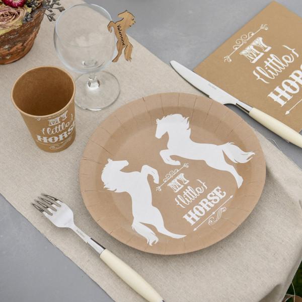 10 Pappteller mit Pferdemotiv