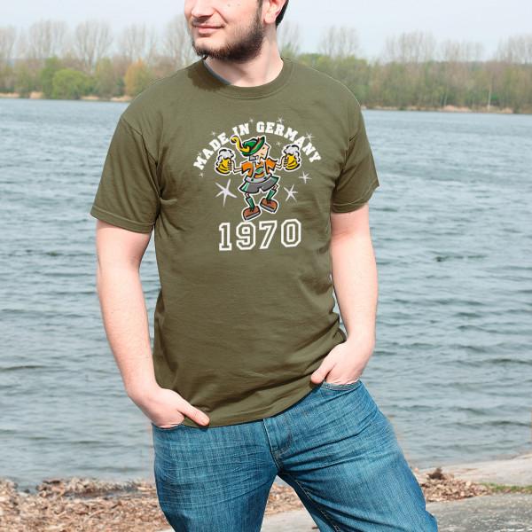 T Shirt Made in Germany mit Jahreszahl und bayrischem Bub