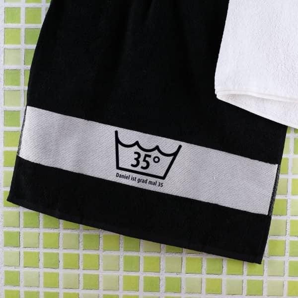 Geburtstags Handtuch mit Alter und Name