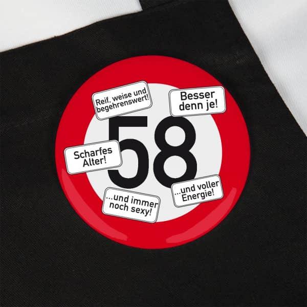 Button zum 58. Geburtstag