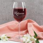 Schlichtes Leonardo Weinglas mit Namensgravur