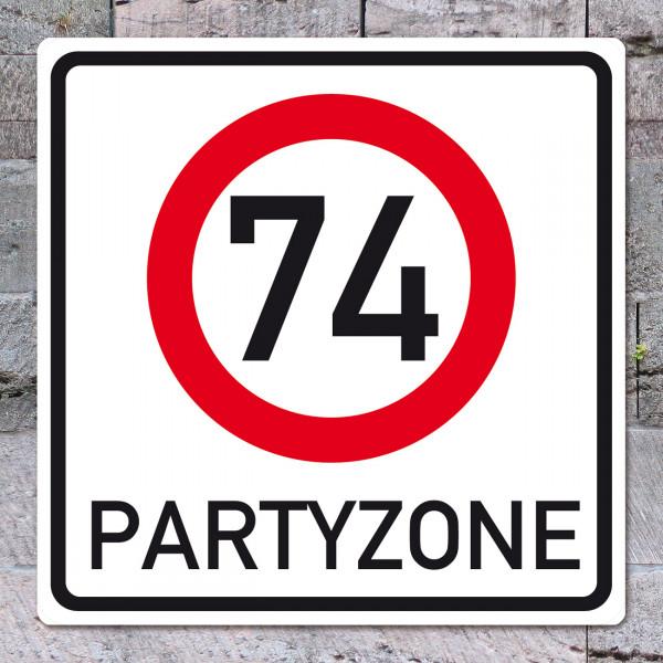 PVC- Schild zum 74. Geburtstag
