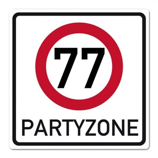 Banner zum 77. Geburtstag