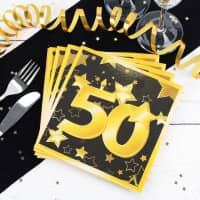 Servietten Star zum 50. Geburtstag