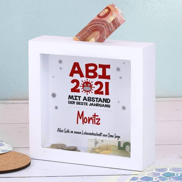 Geldgeschenk zum ABI 2021 - Mit Abstand der beste Jahrgang - Bilderrahmen Spardose
