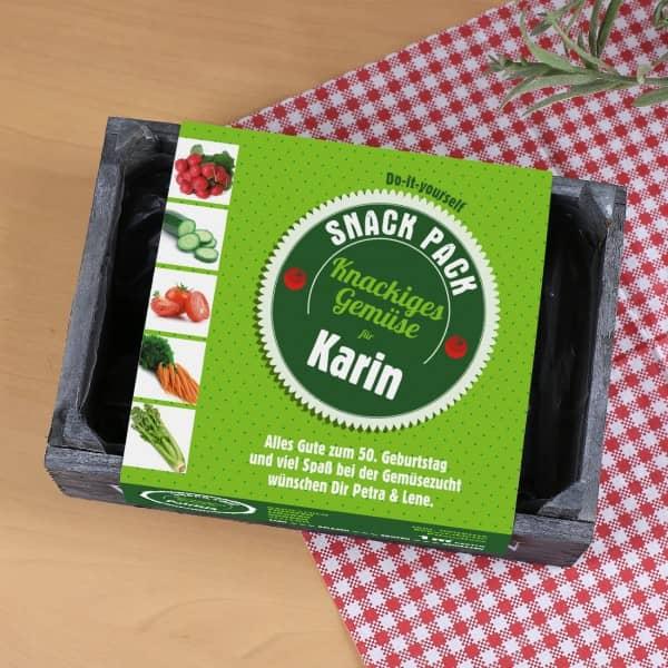 Pflanzset für 1qm Gemüsegarten mit persönlicher Banderole