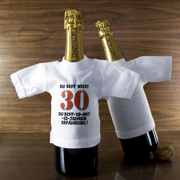 Flaschenshirt zum 30.