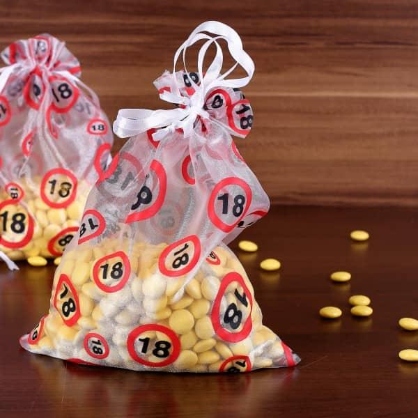 Organza-Beutel zum 18. Geburtstag