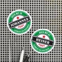Kühlschrankmagnet zum Geburtstag - Das Bier schmeckt noch
