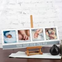 Fotoleinwand 60x20 zur Geburt für Jungs