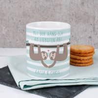 Tasse mit Faultier-Pärchen und Ihren Namen