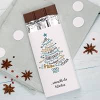 Weihnachtsschokolade mit Ihrem Wunschtext