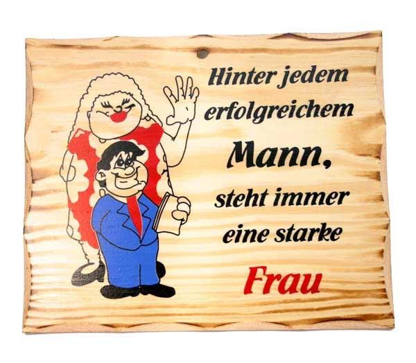 Holzschild Mann und Frau