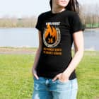 T-Shirt Heißes Eisen mit Namen und Alter