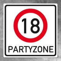 Riesiges PVC Verkehrsschild zum 18. Geburtstag