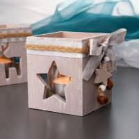 Teelichthalter Naturholz - Stern