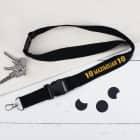 Schwarzes Schlüsselband zum 18. Geburtstag