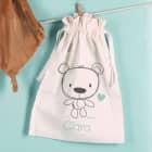 Teddybär-Geschenksack zur Geburt mit Name