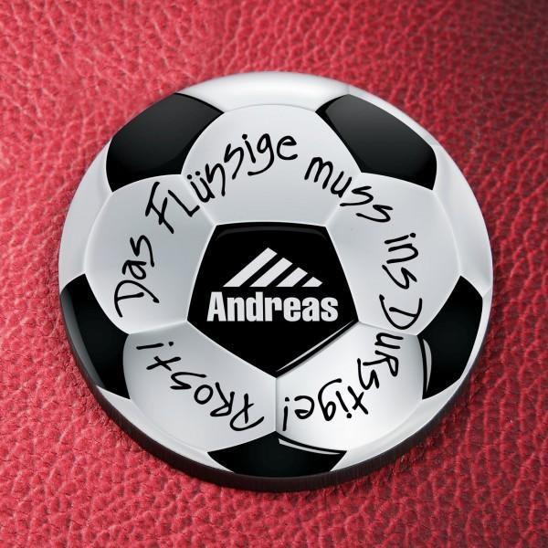 Untersetzer mit Fußballmotiv und Wunschnamen