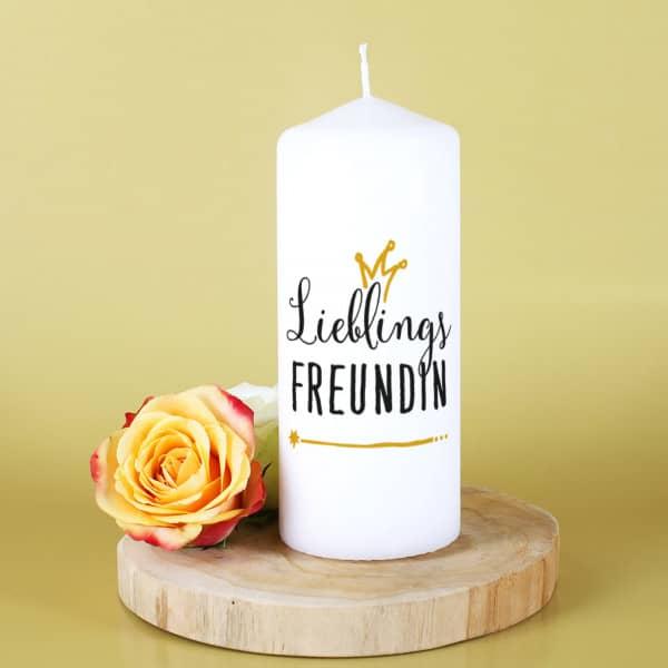 Lieblingsfreundin Kerze für tolle Mitmenschen