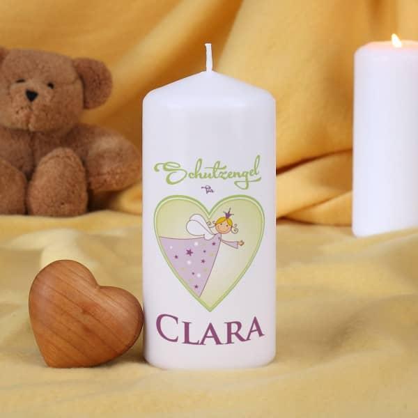 Schutzengel Kerze mit Namensaufdruck