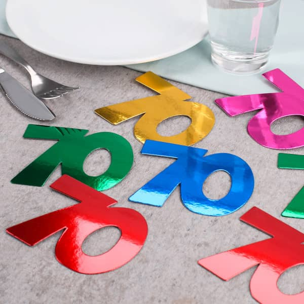 Jumbo Konfetti zum 70. Geburtstag