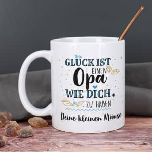 Personalisierte Tasse für Opa