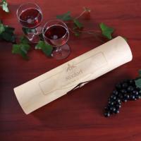 Flaschenverpackung Holzrolle Chateau für Wein