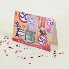 Mausefalle zum 50. Geburtstag mit Karte