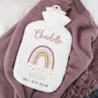 Wärmflasche zur Geburt mit Regenbogenmotiv für Mädchen