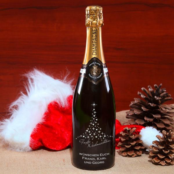 Champagnerflasche mit Swarovski Elements