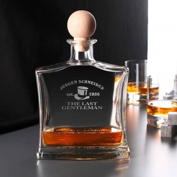 Hochwertige Whiskykaraffe mit Gravur