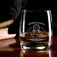 Graviertes Whiskeyglas Best Flavour mit Namen und Geburtsjahr