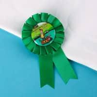 Grüne Rosette für den besten Angler