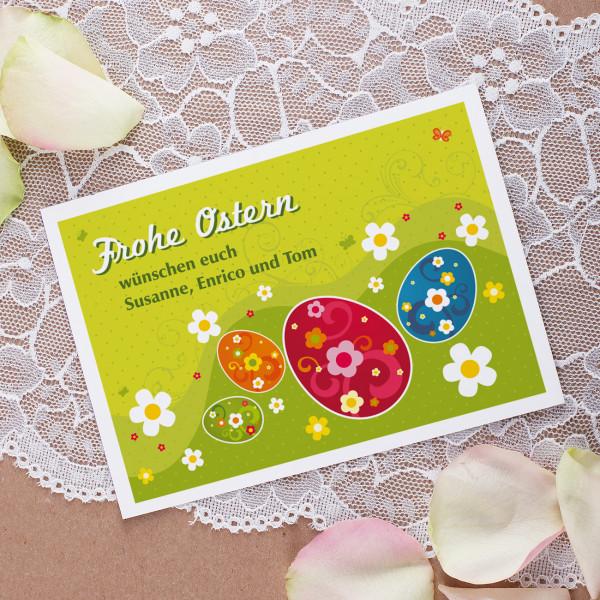 Osterpostkarte mit persönlichem Text