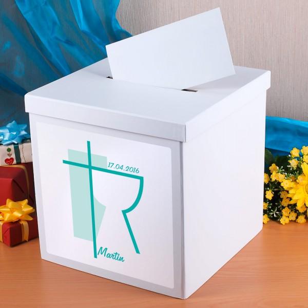 Briefbox zur Konfirmation mit Ihrem Namen und Datum bedruckt