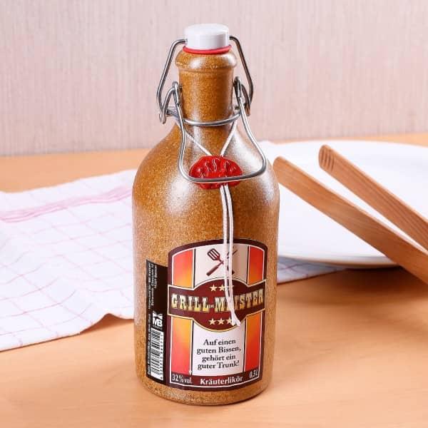 Grillmeister-Kräuterlikör in Tonflasche 500 ml