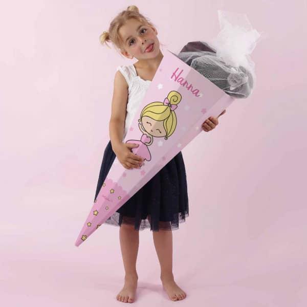 Ballerina Schultüte für Mädchen mit Wunschname