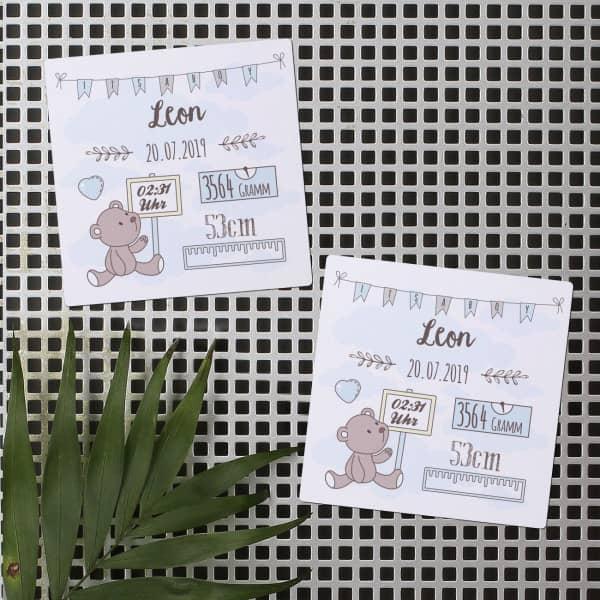 - 10 Dankeskarten als Magnet zur Geburt für Jungs - Onlineshop Geschenke online.de