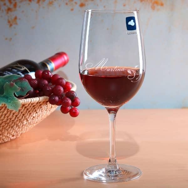 Weinglas XL Floral mit Gravur