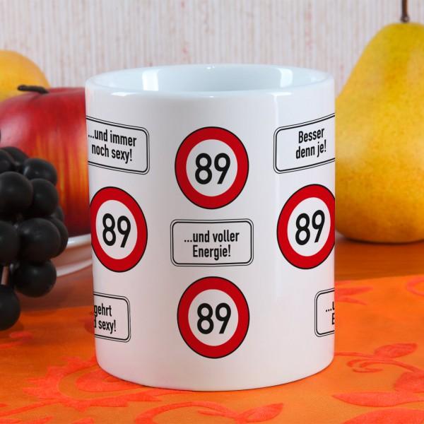 Kaffeetasse zum 89. Geburtstag
