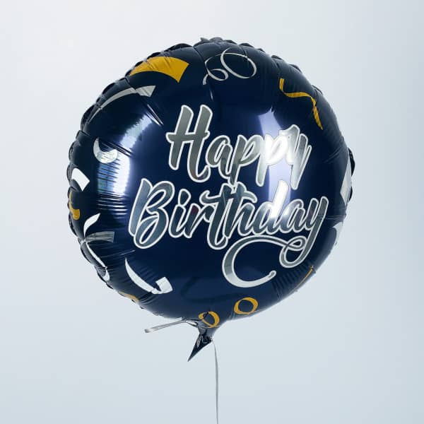Folienballon Happy Birthday in dunkelblau